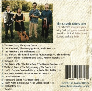 Indiana Sunrise CD Back